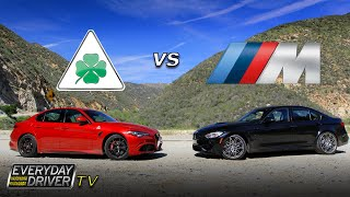 Alfa Giulia QV challenges BMW M3 on Amazing Road - Everyday Driver TV episode