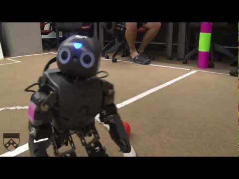 Humanoid Robots Playing Soccer at RoboCup, Part 1
