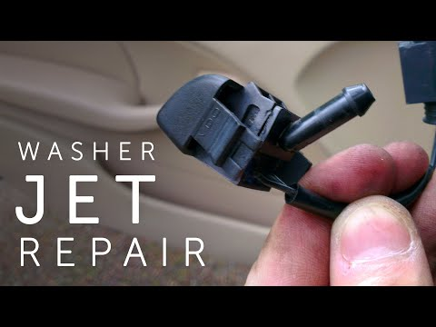 BMW 3 Series E46 - Windscreen Washer Jet Repair - YouTube