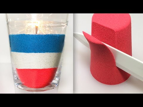 Very Satisfying Video Compilation 70 Kinetic Sand Cutting ASMR