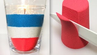 Very Satisfying Video Compilation 75 Kinetic Sand Cutting ASMR