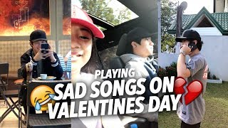 SAD SONGS ON VALENTINES DAY (Teasing Single Bro) | Ranz and Niana