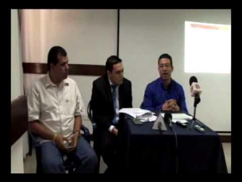 SINTRAEMCALI en rueda de prensa anuncio demanda penal ante el gerente de EMCALI, Oscar Pardo.