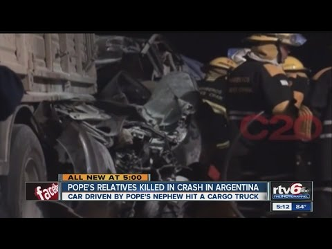 Vatican: Argentina car crash kills Pope Francis' relatives