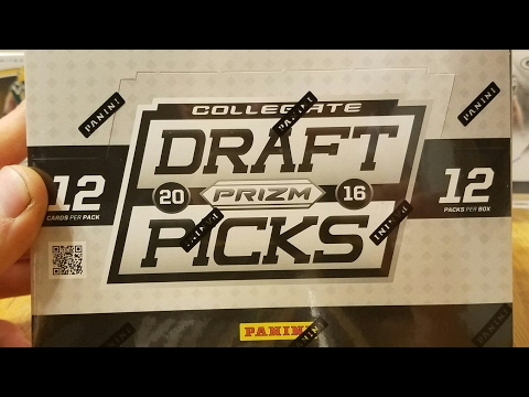 2016 Panini Prizm Collegiate Draft Pick Football Hobby Box. 5 Autos per Box