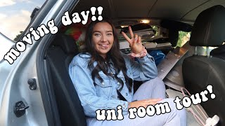 MOVING TO UNIVERSITY & HALLS ROOM TOUR 😭