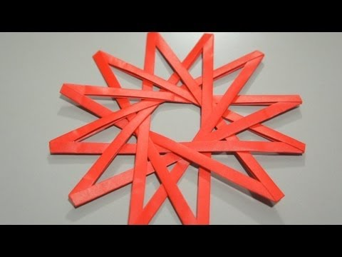 How to Fold an origami 7-pointed shuriken or ninja star « Origami