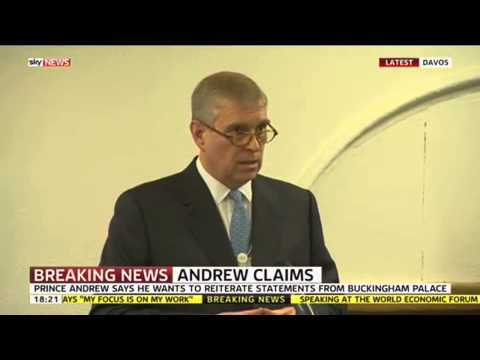 Prince Andrew Denies Sex Allegations video