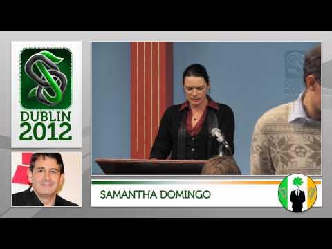 Samantha Domingo (ex Scientology Sea Org and ex Wife of Placido Domingo Jr.) at Dublin Offlines