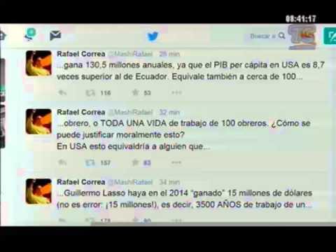Presidente Rafael Correa en su cuenta de twitter habla sobre la desigualdad en el país