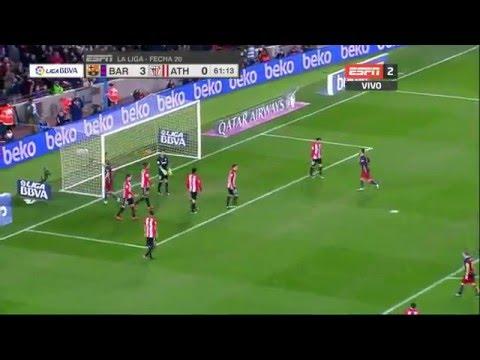 Ivan Rakitić | Gol F.C. Barcelona Vs Athletic Bilbao | 17.1.2016 Liga BBVA