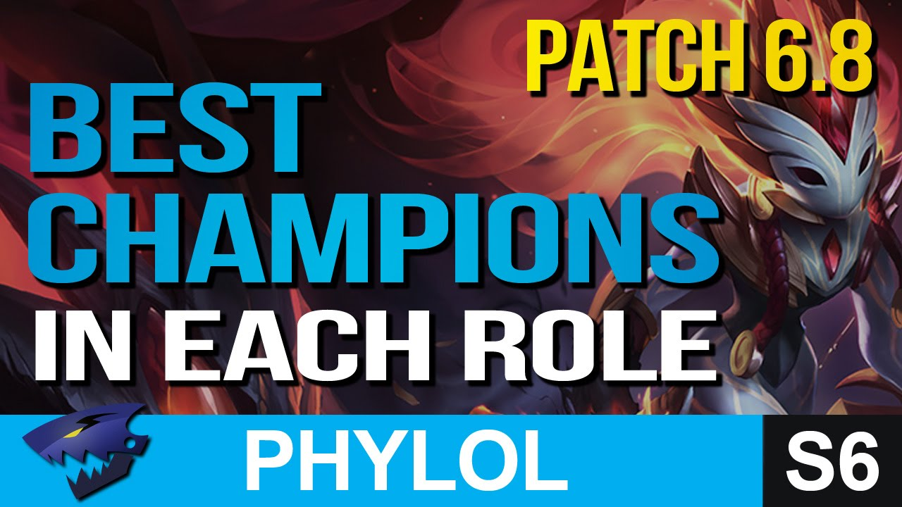 BEST OP CHAMPIONS in every role PATCH 6.8 - League of Legends