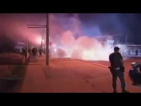 Ferguson Clashes Chaos Erupts Again in Ferguson US Police Fire Tear Gas