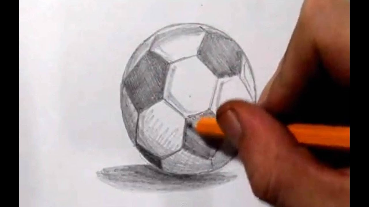 How To Draw a Soccer Ball Soccer Sketches Drawings