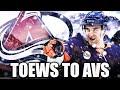 DEVON TOEWS TRADE TO AVALANCHE FOR DRAFT PICKS - NHL New York Islanders & Colorado Avalanche News