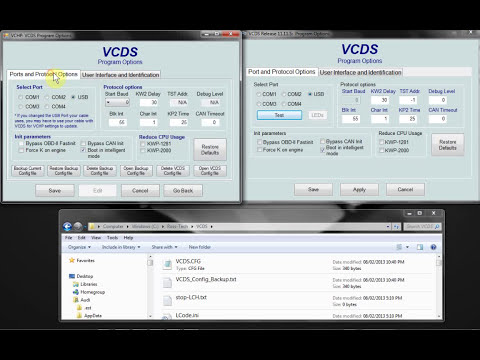 VCHP vs VCDS Options