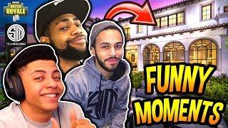 THE TSM_HOUSE FUNNY & SAVAGE MOMENTS FT. MYTH, HAMLINZ & DAEQUAN!! (PRANKS) Fortnite Moments