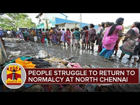 Chennai Rains : People Struggle To Return To Normalcy at Flood Ravaged North Chennai