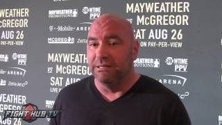 "Dana White ""You Think Floyd Would Go To Dublin, IRELAND Hell No & He"