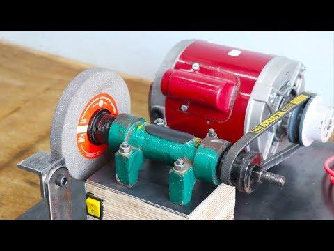 Make A Motor Powered Grinding Machine || Homemade Grinder || Part 1 thumbnail
