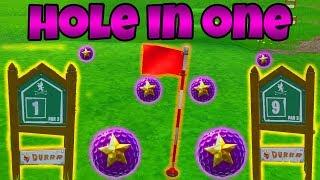GOLF HOLE IN ONE CHALLENGE!   (alle 9 Löcher)   Fortnite Battle Royale