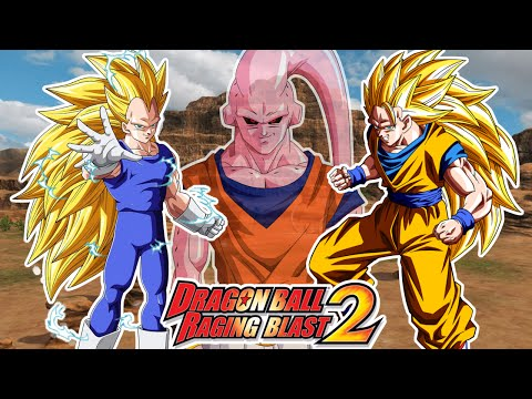 Dragon Ball Raging Blast 2 : VEGETA SUPER SAIYAJIN 3 VS GOKU SSJ 3 - VEGETA SALVA EL MUNDO