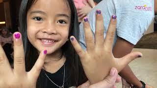 Zara Cute Menghias Kuku dan Meronce di Grand Tjokro Bandung | Aktivitas Anak