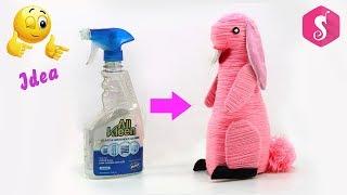 DIY Spray Bottle Craft / Amazing way to reuse Plastic Bottle / Toy Rabbit Craft