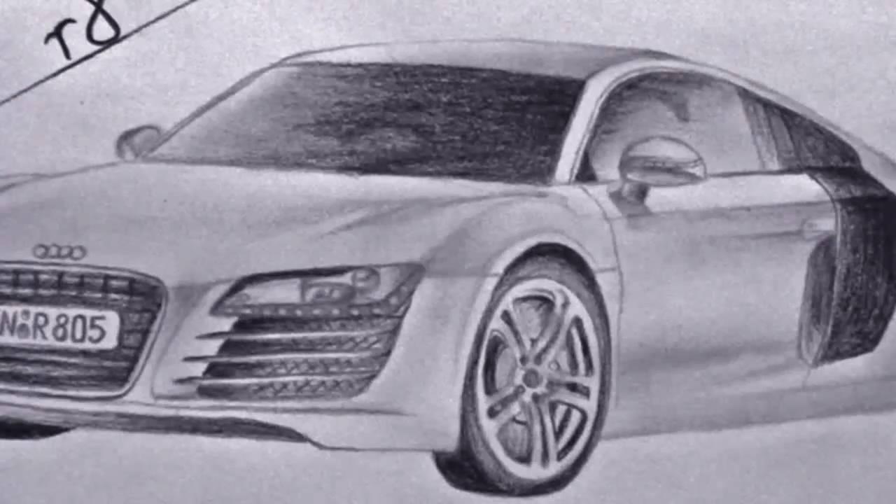 Drawing Audi R8 Youtube