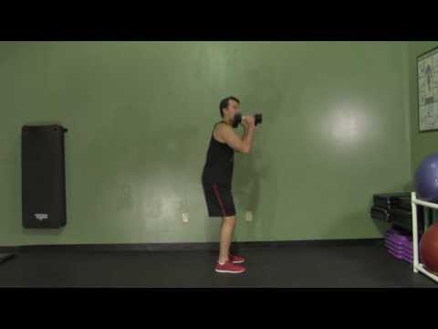 Dumbbell Hang Clean - HASfit Olympic Exercise - Olympic Lift Form Image 1
