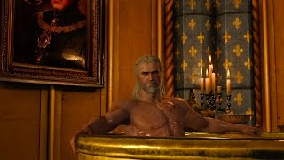 The Witcher 3 - (UNCENSORED) 18+ Geralt with beautiful girls , awesome night !!