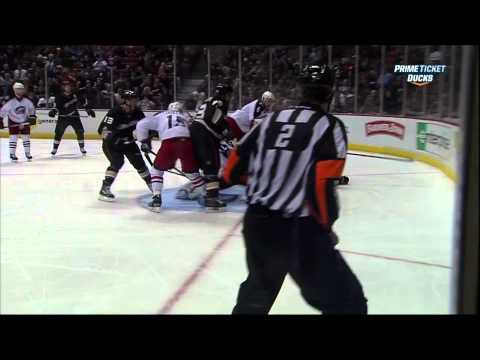 Corey Perry goal Feb 18 2013 Columbus Blue Jackets vs Anaheim Ducks NHL Hockey