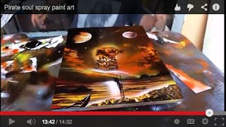 Pirate soul spray paint art
