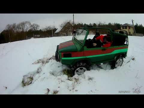 Луаз 1 6 ТД на тракторной резине R15 205/70. Катаемся по лду и снегу