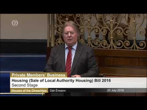 Tommy Broughan TD on Sale of Local Authority Houses Private Member's Bill