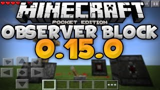 OBSERVERS in 0.15.0 - Observers Guide and Tutorial! - Update Review - Minecraft PE (Pocket Edition)