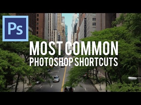 Most Common Shortcuts in Photoshop CS6!