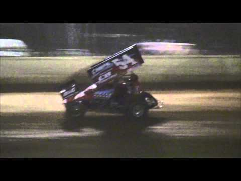 Trail-Way Speedway 358 Sprint Car Highlights 8-01-14