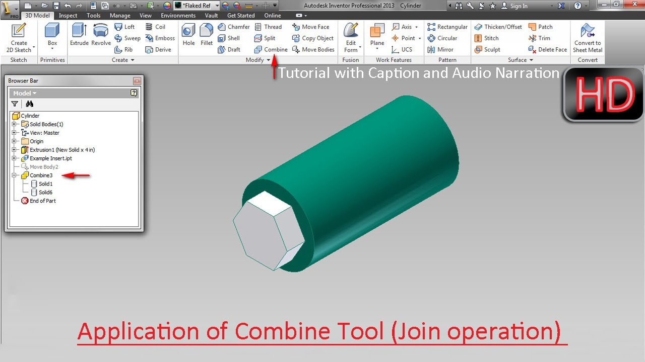 Application Of Combine Tool Join Operation Autodesk