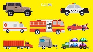 Toys Car Puzzle For Kids - Fire Truck, Water Tanker, Police Car, Ambulance | Game For Kids