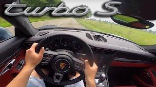 Porsche 911 TURBO S | 991 MK2 | Acceleration POV Launch Control Sound Test Drive by AutoTopNL