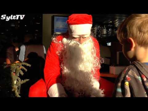 Santa auf See bei der Syltfähre