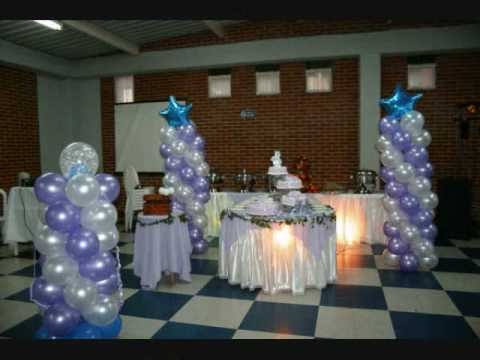 Decoración globos, rumba minitecas, 15 años, matrimonio - YouTube