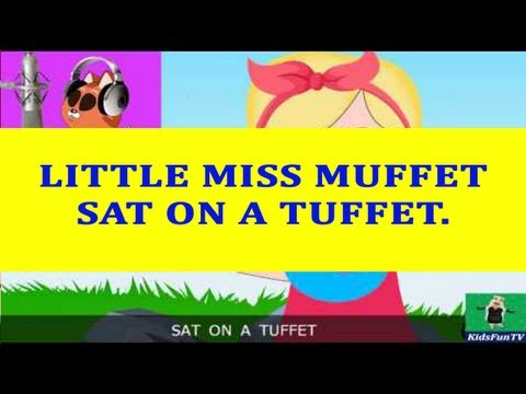Nursery Rhymes By Kids | Little Miss Muffet | Animated Songs...