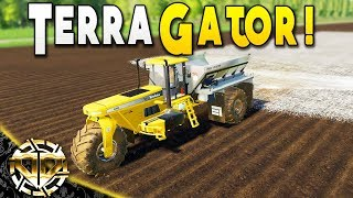 TerraGator 6203 The Tri-Pod Lime Spreader - Farming Simulator 19 Gameplay