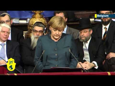 European Jewish leaders honour Angela Merkel: German leader speaks of support for Israel