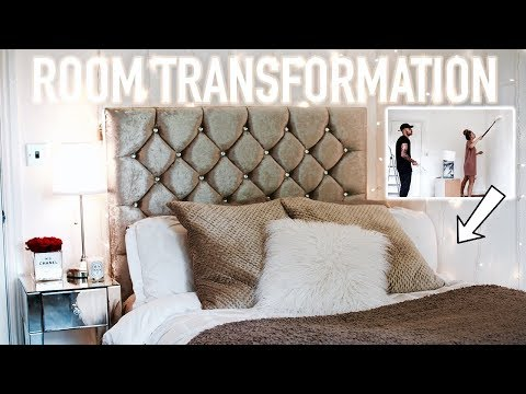 INSANE ROOM TRANSFORMATION / ROOM TOUR (SMALL BEDROOM) | Hannah Renée