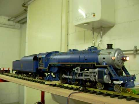 G Scale trains New Sound of Aristocraft Pacific Blue Comet with Phoenix P5