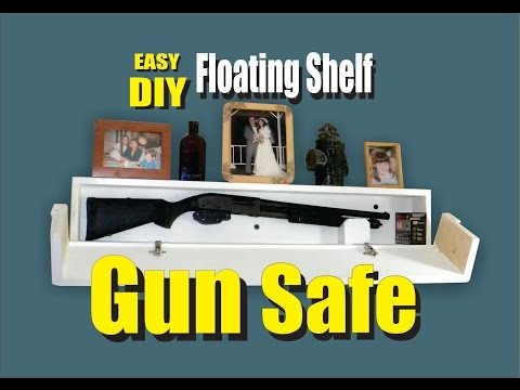 DIY Floating Shelf Secret Hidden Gun Safe