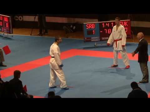 2009 WKF Jr Worlds -21 Men -78 Kg Aka Slovakia vs Ao Serbia
